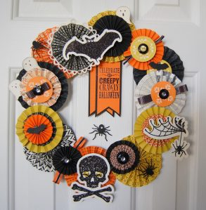 Halloween Wreath Using Halloween Banner Kit