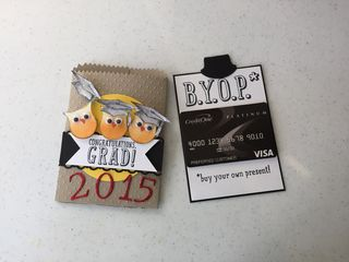 Graduation Card with Mini Treat Bag